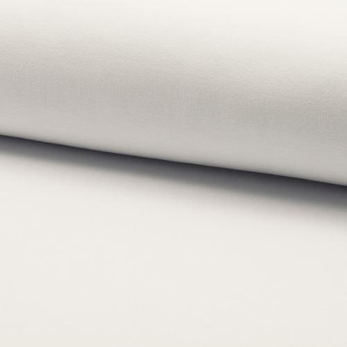 Teplákovina počesaná, bílá, š.155