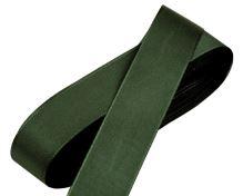 Stuha taftová tmavě zelená, šíře 25mm, 10m