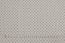 Koženka světle béžová perforovaná, hvězdičky, š.135
