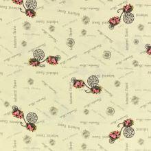 Dekorační látka SONJA, květiny na kole, š.160