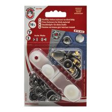 Knoflíky stiskací starostříbrné, druky AM, průměr 15mm (v.6), 10ks