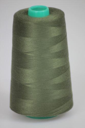 Niť KORALLI polyesterová 120, 5000Y, odtieň 6945, zelená