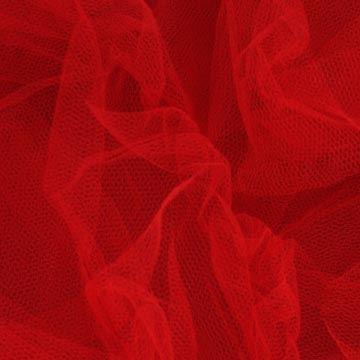 Tyl závojový červený š.180