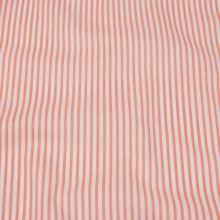 Bavlna bílo-lososový proužek, š.160