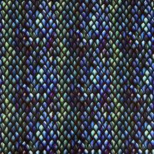 Úplet VENEZIA, modro-zelené šupiny, š.150