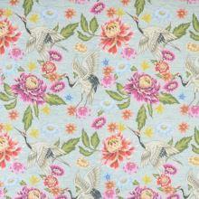 Úplet mint melé, barevný květ, pták, š.150