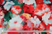 Úplet červený, kvetinový vzor, š.175