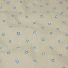 Dekorační látka režná, modré květy, š.150