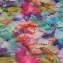 Elastický tyl 15552, barevný květ, š.160