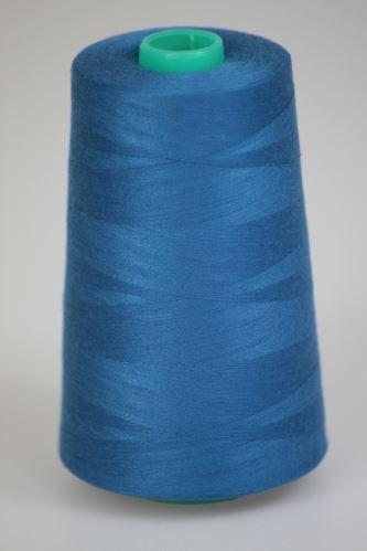 Niť KORALLI polyesterová 120, 5000Y, odtieň 5760, modrá