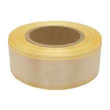 Stuha monofilová s vlascem světle žlutá, šíře 25mm, 25m