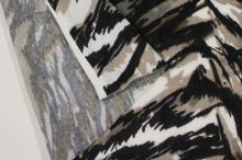 Úplet barevný 188524, šedo-béžový vzor, š.145