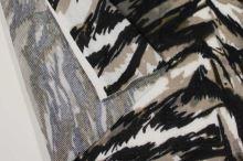 Úplet farebný 188524, šedo-béžový vzor, š.145