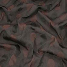 Taft hnědý, vzor ovál š.160