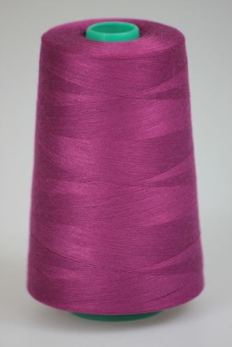 Niť KORALLI polyesterová 120, 5000Y, odtieň 3730, fialová