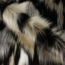 Kožušina dlhý vlas, farebný vzor, š.155