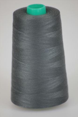 Niť KORALLI polyesterová 120, 5000Y, odtieň 9565, šedá