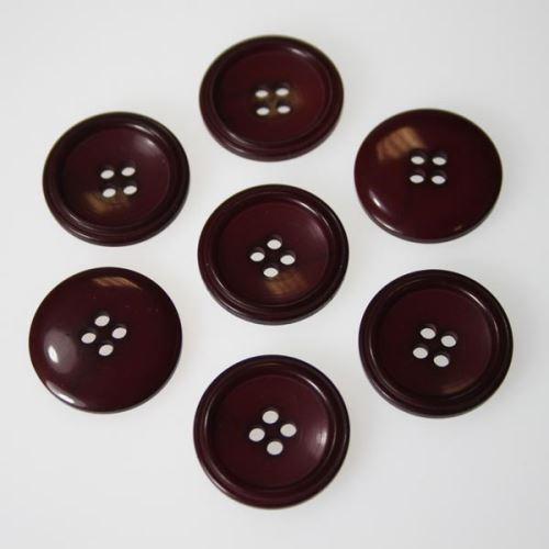 Knoflík vínový K36-6, průměr 23 mm.