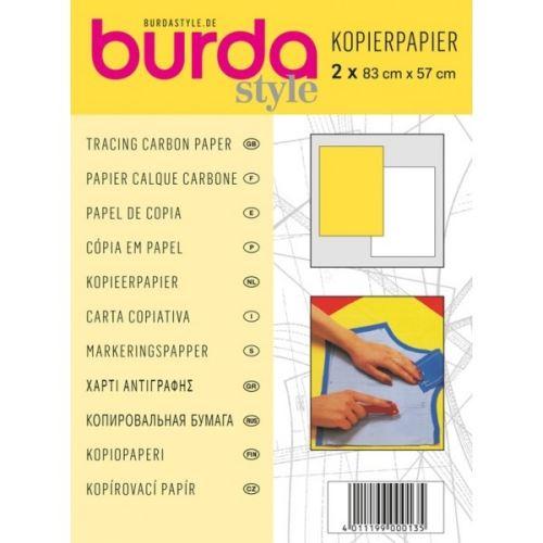 Kopírovací papír Burda, bílo-žlutý, 83x57 cm, 2ks