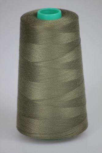 Niť KORALLI polyesterová 120, 5000Y, odtieň 6920, béžová-šedá