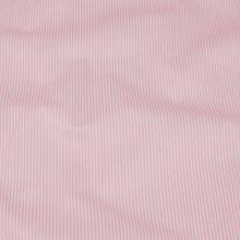 Bavlněné plátno bílé, růžový drobný proužek, š.140